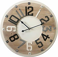 Rebecca Mobili Wooden Wall Clock Mdf Wood Beige
