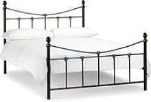 Rebecca Satin Black and Antique Gold Metal Bed