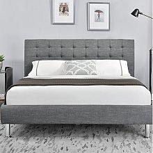 Rebersburg Upholstered Bed Frame Marlow Home Co.
