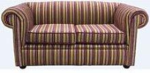 Reception Chesterfield Sofas   Buy striped velvet