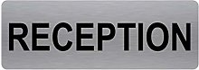 Reception Sign-Brushed Silver Aluminium