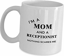 Receptionist Mom Coffee Mug Cup Gifts - Nothing