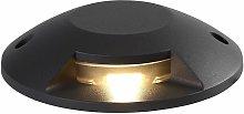 Recessed luminaire Helios 1 Bulb Anthracite 128 Cm