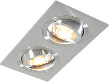 Recessed Rectangle Spotlight Aluminium - Lock 2