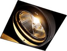 Recessed spot black 1-light GU10 AR111 Trimless -
