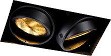 Recessed spot black 2-light GU10 AR111 Trimless -
