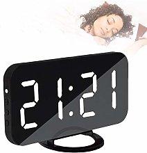 Rechargeable Big Alarm Digital Mirror Lamp Clock