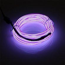 Rechargeable EL Wire 10m/32.8ft(5mx2), JIGUOOR