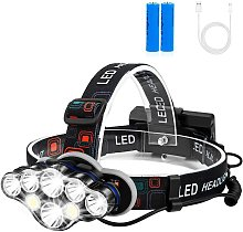 Rechargeable Headlamp,8 LED Headlamp Flashlight