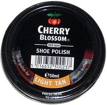 Reckitt Cherry Blossom Shoe Polish Light Tan by