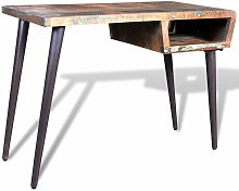 Reclaimed Wood Desk with Iron Legs VDTD08565