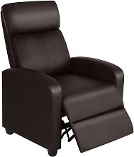 Recliner Arm chair Single Padded Seat PU Leather