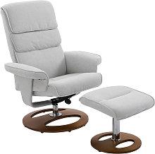 Recliner Armchair Ottoman Set 360° Swivel Seat
