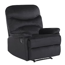 Reclining Chair Manual Adjustable Back Footrest