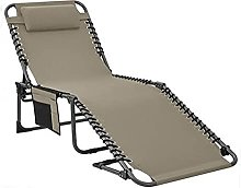 Reclining Sun Lounger Portable Folding Camping Bed