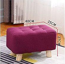 Rectange Pouffe Footstool, Small Ottoman Modern