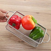 Rectangle Fry Basket, Stainless Steel Fine Mesh