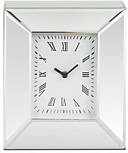 Rectangle Mirrored Mantel Clock