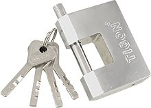Rectangle Shaped 70mm Chrome Plated Steel Security
