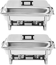 Rectangle Stainless Steel Food Warmer 4-9.5 L