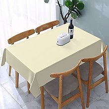 Rectangle Table Cloth,Beige Cream Solid Color