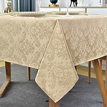 Rectangle Tablecloth - 132 x 182CM Flax Damask
