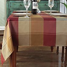 Rectangle Tablecloth Checkered Style Polyester