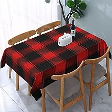 Rectangle Tablecloth Christmas and New Year Tartan