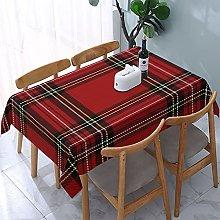 Rectangle Tablecloth Christmas New Year Tartan