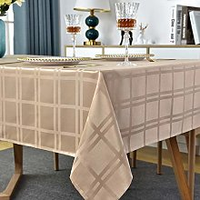 Rectangle Tablecloth Plaid Style Polyester Table