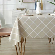 Rectangle Tablecloth- Vinyl Washable Table