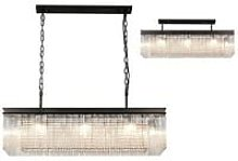Rectangular Ceiling Pendant, 11 Light E14, Brown