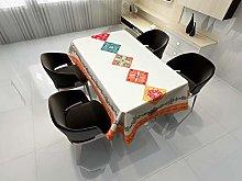 Rectangular Decorative Tablecloth,Abstract Mandala