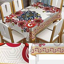 Rectangular Decorative Tablecloth,Abstract