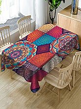 Rectangular Decorative Tablecloth,Bohemian Style