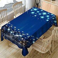 Rectangular Decorative Tablecloth,Christmas Night