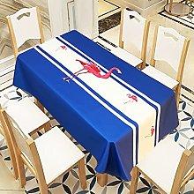 Rectangular Decorative Tablecloth,Flamingo Blue