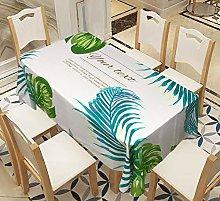 Rectangular Decorative Tablecloth,Green Fresh