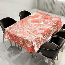 Rectangular Decorative Tablecloth,Marbling Orange