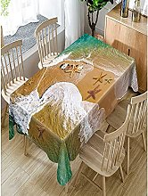 Rectangular Decorative Tablecloth,Natural Scenery