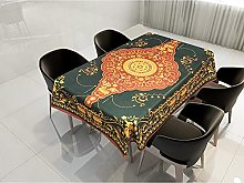 Rectangular Decorative Tablecloth,Nordic Mandala