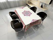 Rectangular Decorative Tablecloth,Pink Fresh
