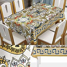 Rectangular Decorative Tablecloth,Psychedelic