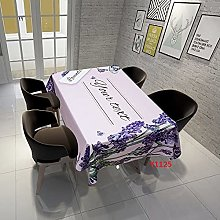 Rectangular Decorative Tablecloth,Purple Bouquet