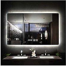 Rectangular Frameless Vanity Mirror, LED Bathroom
