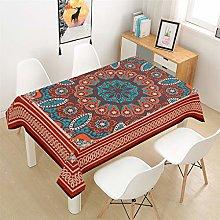 Rectangular Linen Waterproof Tablecloth, Bohemia
