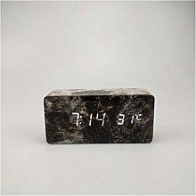 Rectangular Marble Wood Grain Digital Temperature