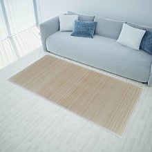 Rectangular Natural Bamboo Rugs 4 pcs 120x180 cm