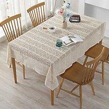 Rectangular/Round Lace Tablecloth Handmade Crochet