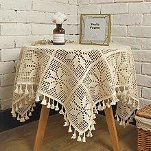 Rectangular/Round Lace Tablecloth Handmade Round